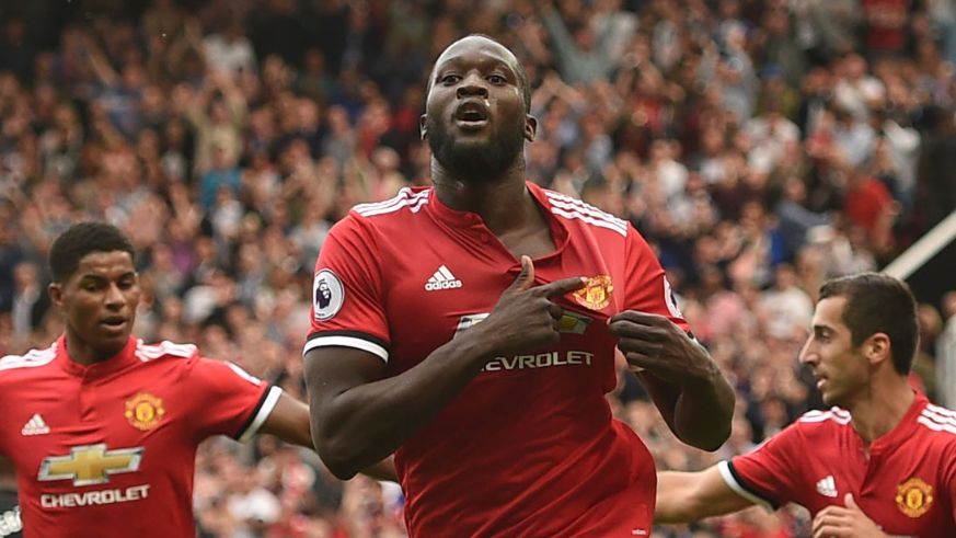 united striker romelu lukaku