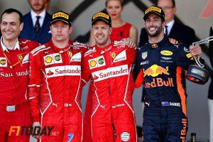 Ricciardo-Raikkonen-Vettel