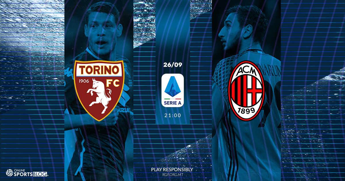 Torino vs Milan - Predictions & Betting Odds - 26/09/2019 ...