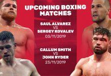 upcoming boxing matches